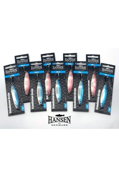 Hansen Pilgrim 7.8cm 14G Silver/blue Kaşık