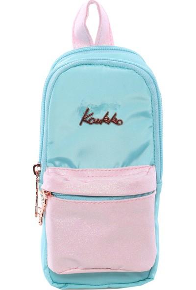 Kaukko K2202 Magical Junior Bag Kalem Çantası Simli Turkuaz