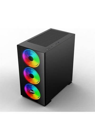"İzoly N12x Intel Core i5 3470 8GB 500GB + 240GB SSD RX 550 Freedos 24"" Masaüstü Bilgisayar"