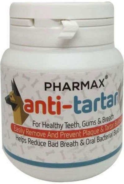 Pharmax Anti-Tartar Kedi Köpek Diş Taşı Giderici Tablet 60 Tablet