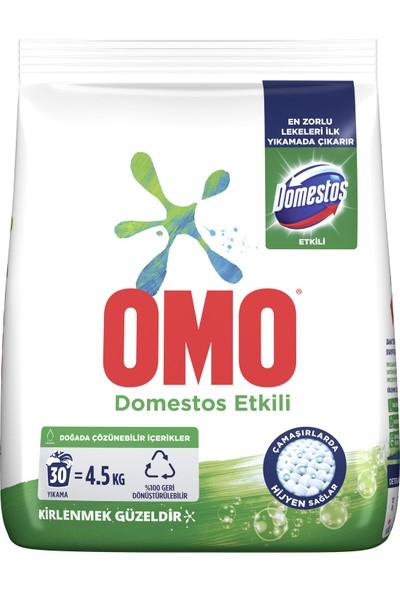 Omo Toz Çamaşır Deterjanı Domestos Etkili En Zorlu Lekeleri İlk Yıkamada Çıkarır 4.5 KG 30 Yıkama 1 Adet
