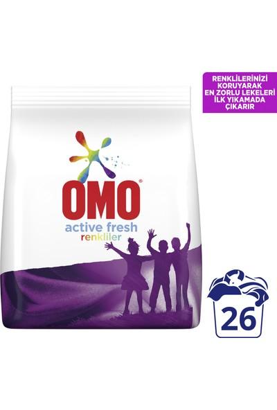 Omo Active Fresh Toz Çamaşır Deterjanı Renkliler İçin Renklilerinizi Koruyarak En Zorlu Lekeleri İlk Yıkamada Çıkarır 4 KG 26 Yıkama 1 Adet