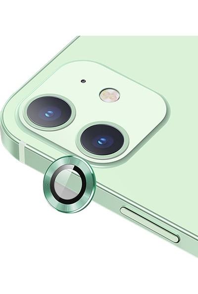 Ssmobil Apple Iphone 12 - 12 Mini 3D Metal Çerçeveli Kamera Lens Koruyucu
