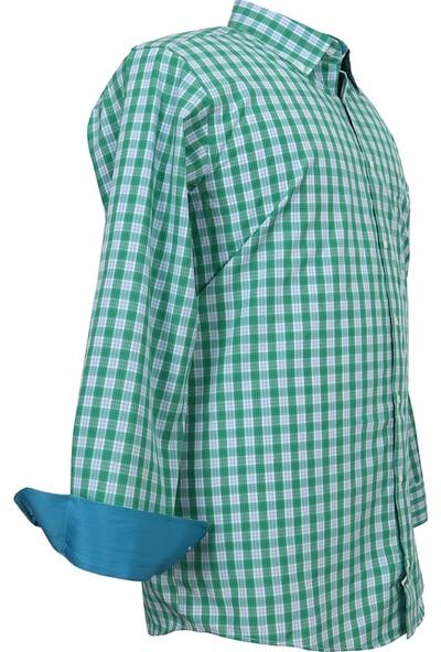 Bettino Büyük Beden Battal Boy Erkek Gömlek Bettino Yeşil