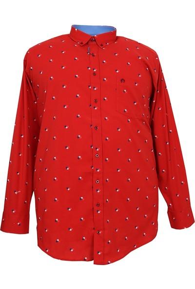 Bettino Büyük Beden Battal Boy Bettino Mevsimlik Likralı Pamuk Gömlek