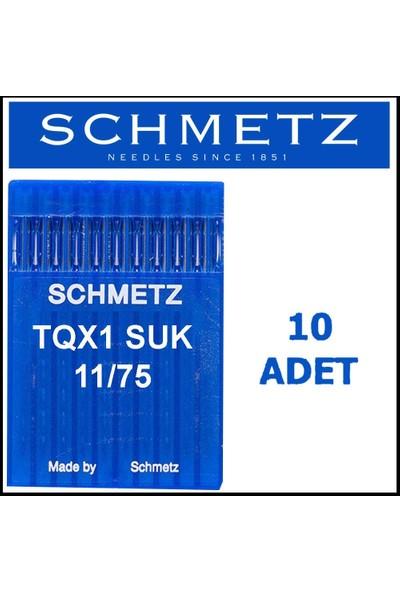 Schmetz Tqx1 Suk Düğme Makinesi Iğnesi 11/75 Numara