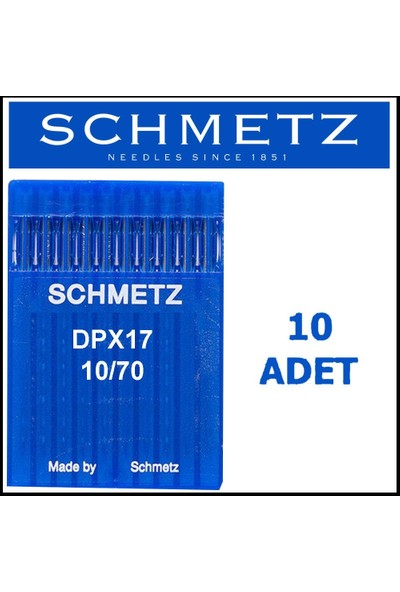 Schmetz DPX17 Suk Punteriz Iğne 10/70 Numara
