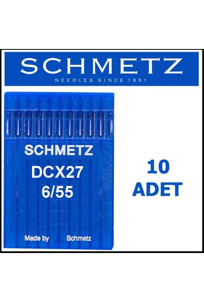 Schmetz DCX27 Ses Overlok Makinesi Iğnesi 6\55 Numara