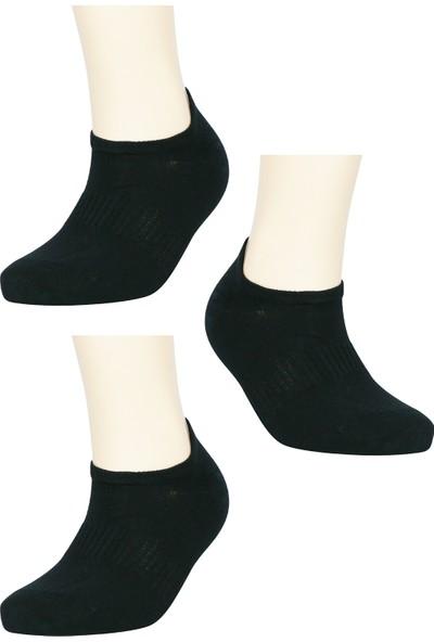 Fandd Erkek Siyah Spor Çorap Sneakers Dikişsiz Burun Kokulu 3 Çift
