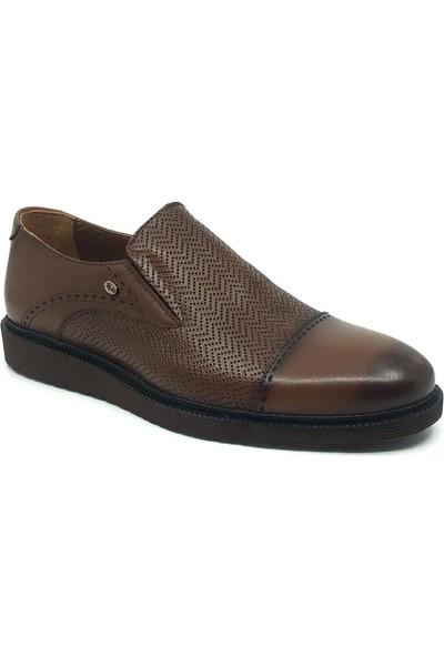 Üçlü %100 Deri Erkek Mevsimlik Günlük Rahat Klasik Ayakkabı 40 Taba