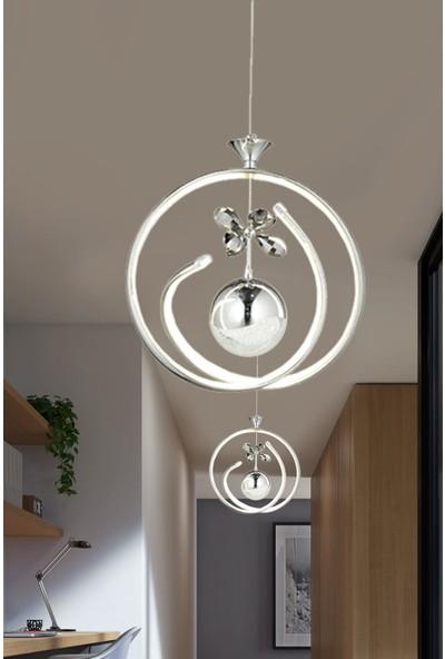 Luna Lighting Modern Luxury Sarkıt LED Avize Krom Powerled 2'li Set