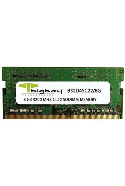 Bigboy 8gb 3200MHZ CL22 Ddr4 Notebook Ram B32D4SC22/8G