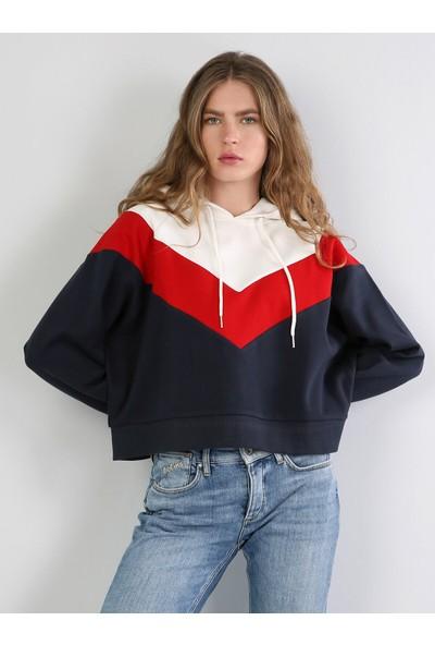 Colin's Comfort Fit Kadın Lacivert Sweatshirt