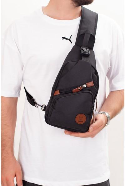 Kindfox Imperteks Kumaş Portatif Çapraz Çanta   USB ve Kulaklık Girişli Çapraz Sırt Çanta   Bodybag