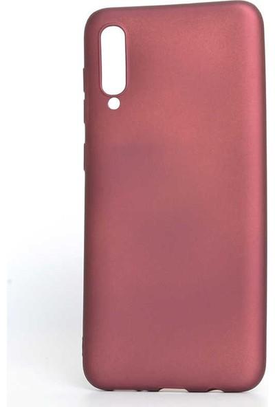 Canpay Samsung Galaxy A70 Kılıf Yumuşak Pürüzsüz Esnek New Style Case Esnek Bordo