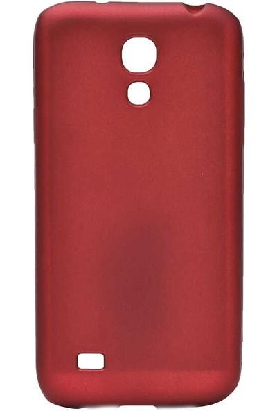 Canpay Samsung Galaxy S4 Mini Kılıf Yumuşak Pürüzsüz Esnek New Style Case Esnek Kırmızı