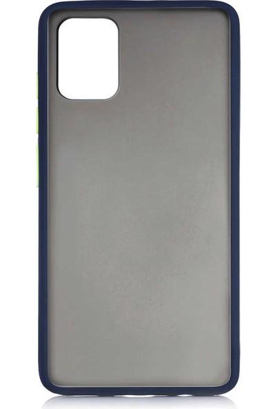 Canpay Samsung Galaxy A71 Kılıf Tpu Color Series, Mat Yumuşak Silikon Lacivert
