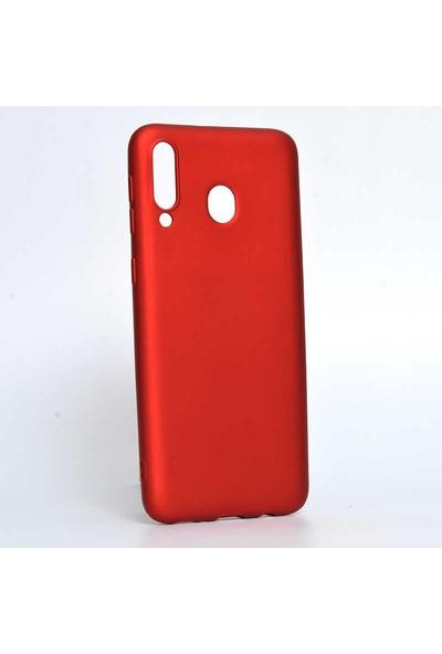Canpay Samsung Galaxy M30 Kılıf Yumuşak Pürüzsüz Esnek New Style Case Esnek Kırmızı