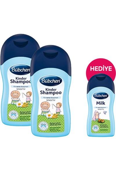 Bübchen Şampuan 400 ml x 2 Adet + Nemlendirici Süt