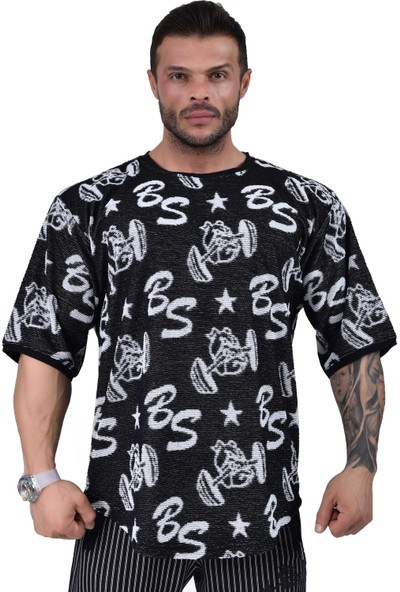 Big Sam Oversize Havlu Antrenman T-Shirt Big Sam 3316