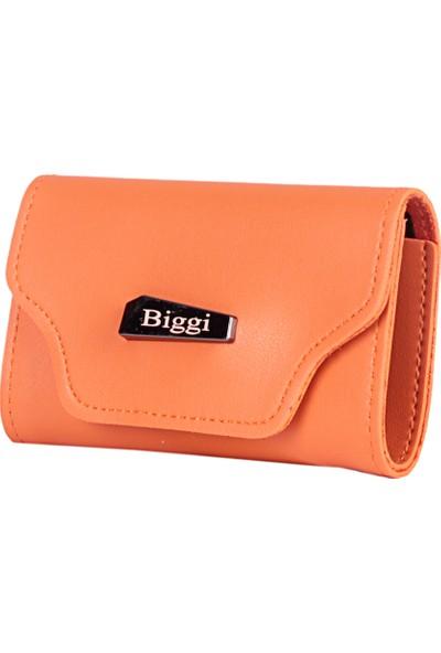 Biggi 00969 Turuncu Kadın Deri Tozu Kartlık