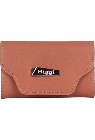 Biggi 00969 Taba Kadın Deri Tozu Kartlık