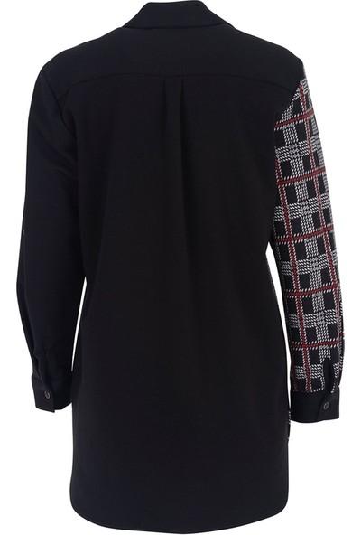 Grandı 5060 Buyuk Beden Bluz Siyah
