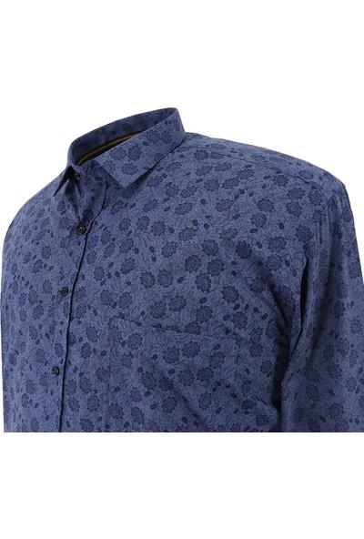 Bettino Erkek Büyük Beden Mevsimlik Gömlek Uzun Kol