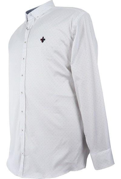 Bettino Büyük Beden Pamuklu Mevsimlik Gömlek Uzun Kol