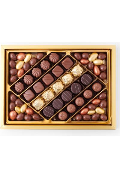 Sıroğlu Çikolata Premium Karışık Spesiyal & Yaldızlı Çikolata Hediyelik Kutu