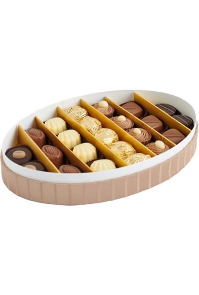 Sıroğlu Çikolata Special Luxury Hediyelik Çikolata Oval Kutu