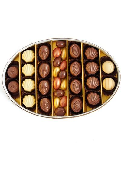 Sıroğlu Çikolata Premium Gourmet Hediyelik Çikolata Oval Kutu