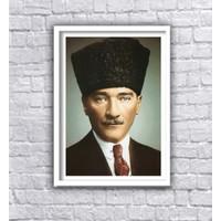 Dekorog Beyaz Çerçeveli Atatürk Poster Tablo 35X50