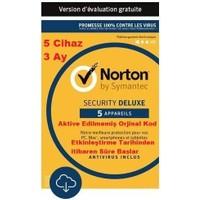 Norton Security Deluxe 5 Cihaz 3 Ay Lisans/Key