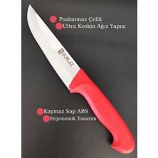 SürLaz Et Bıçak Seti Kasap Satırı Kurban Bıçak Seti 4 Parça