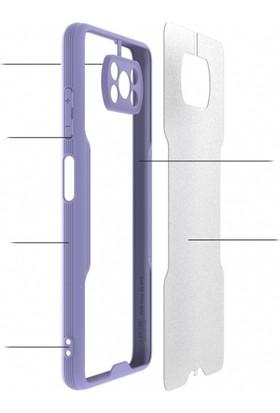 Kılıf Plus Xiaomi Poco X3 Nfc Kılıf Kamera Lens Korumalı Arkası Şeffaf Silikon Kapak - Siyah