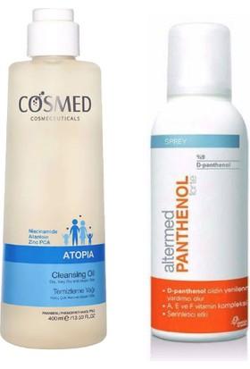 Cosmed Atopia Temizleme Yağı 400 ml + Altermed Yüksek Oranda D-Panthenol A, E ve F Vitaminleri Içeren Nemlendirici Sprey 150ML