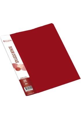 Ticon Sunum Dosyası Tanıtım Kataloğu 20'li Kırmızı