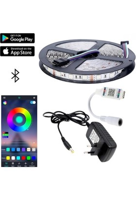 Hanover Bluetooth Lu Tak Çalıştır Rgb Şerit LED Seti