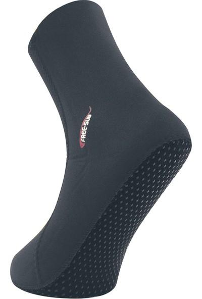 Free-Sub 7mm Opencell Kaymaz Tabanlı Siyah Dalış Çorabı 2xl Beden