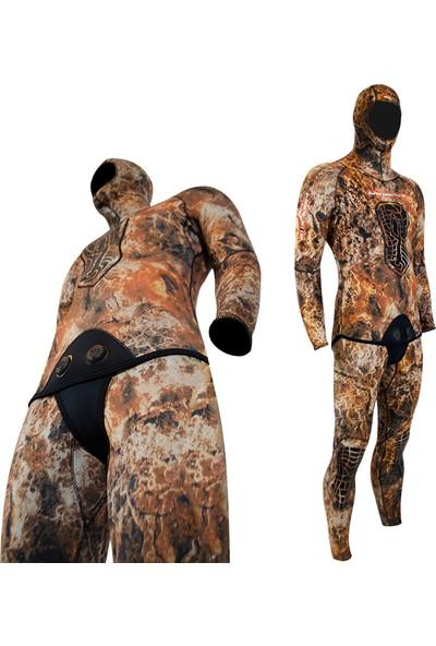 Free-Sub 5mm Expert Brown Avcı Dalış Elbisesi L Beden