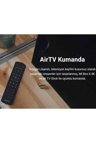 AirTV Xiaomi Mi Box S 4K - Mi Tv Stick Android Tv Box Media Player Bluetooth Uzaktan Kumanda