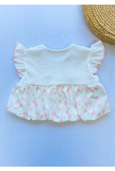 Nono Baby Kız Bebek Kirazlı Şortlu Takım