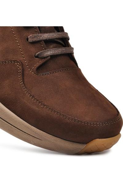 Free Foot Kahve Deri Yüksek Taban Casual Ayakkabı