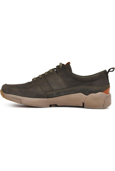 Free Foot Antrasit Deri Yüksek Taban Casual Ayakkabı