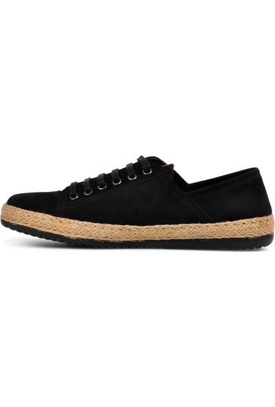 Free Foot Nubuk Siyah Deri Kadın Günlük Ayakkabı