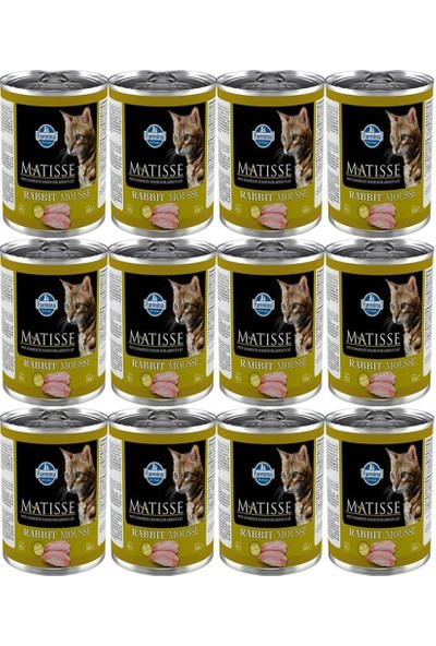 Matisse Rabbit Mousse Tavsanli Kedi Konservesi 300 gr 12 Adet