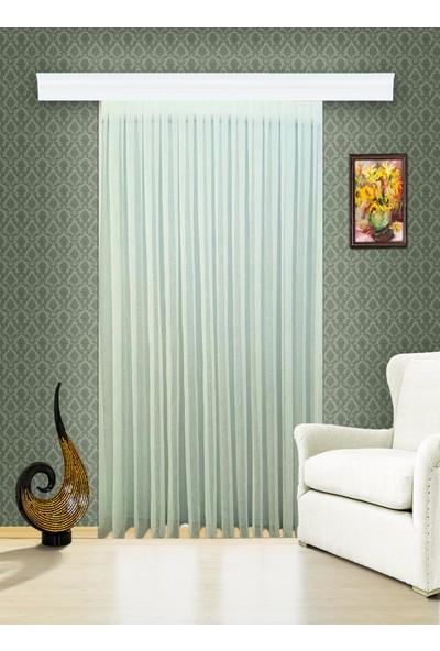 Evdepo Home Kullanıma Hazır 1/2 Seyrek Pileli Ham Keten Tül Perde - Ekru 270 x 270 cm