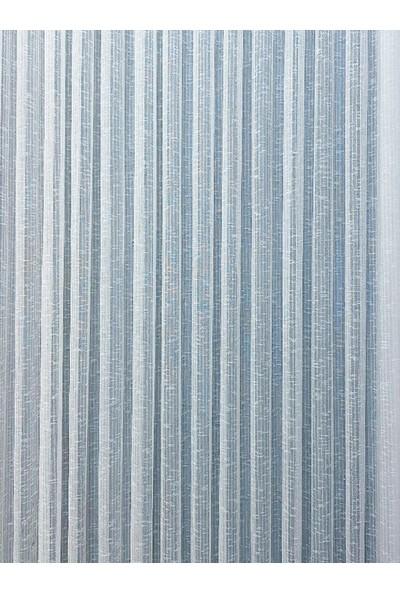 Evdepo Home Kullanıma Hazır 1/2 Seyrek Pileli Ham Keten Tül Perde - Ekru 340 x 270 cm