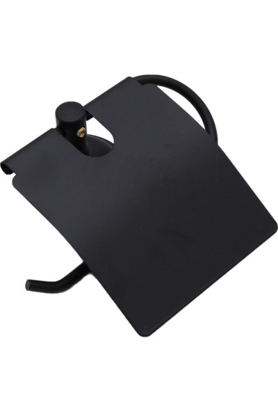 Sardıcı Banyo Mat Siyah Kapaklı Kağıtlık Wc Kağıtlık